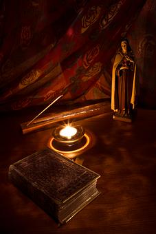 Catholic, Saint, St Mary, Candle, Bible, Incense, Light