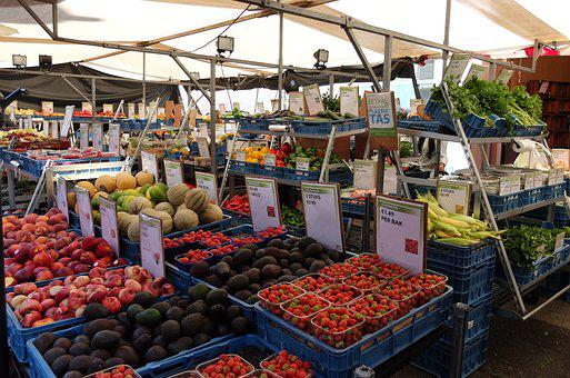 Market, Etal, Fruit, Vegetables, Power