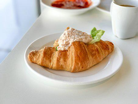 Croissant, Tuna Croissant, Tuna, Food, Meal, Pastry