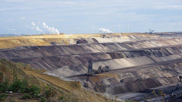Open Pit Mining, Brown Coal, Bucket Wheel Excavators