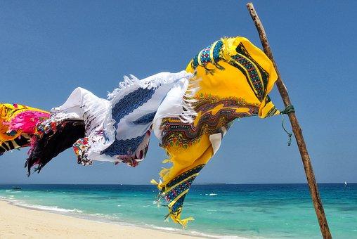 Zanzibar, Sea, Blue, Beach, Tanzania, Summer, Horizon