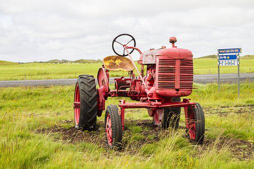 Iceland, Tractor, Oldtimer, Tractors, Agriculture