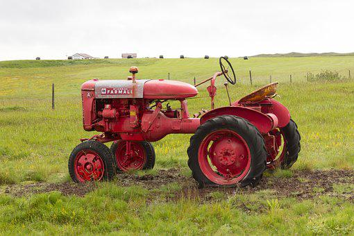 Iceland, Tractor, Tractors, Agriculture, Oldtimer