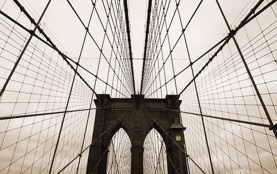 Brooklyn Bridge, Usa, Us, America, Bridge, New York