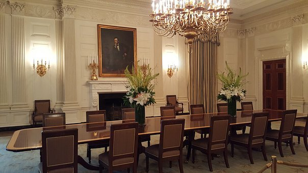 White House, Dining Room, Abraham Lincoln, Portrait