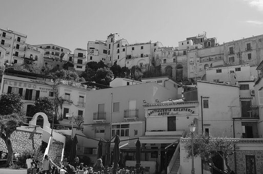 White Black, Country, Old Town, Sperlonga, Architecture