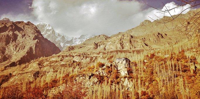 Pakistan, Autumn, Peak, Karakorum, Mountain, Landscape