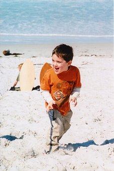 Laughing, Kids, Beach, Happy, Fun, Child, Smiling