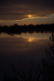 Dusk, Water, Sunset, Sky, Nature, Landscape, Reflection