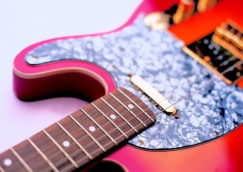 Fender Telecaster, Electric Guitar, Orange Guitar