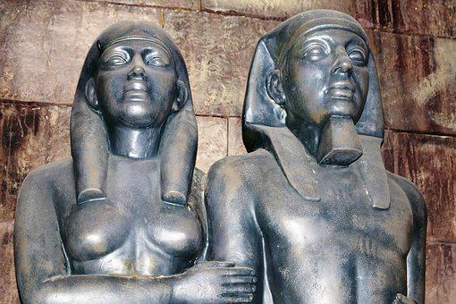 Figures, Pair, Love, Egypt, Man, Woman