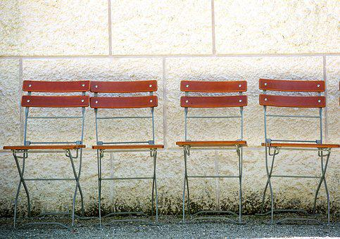 Chair Series, Garden Chair, Group, Wall, Together
