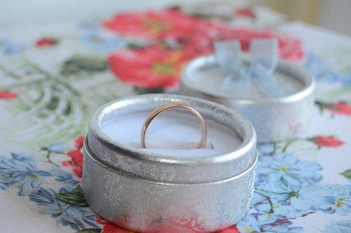 Ring, Gift, Box, Wedding, Packaging, Joy, Postcard
