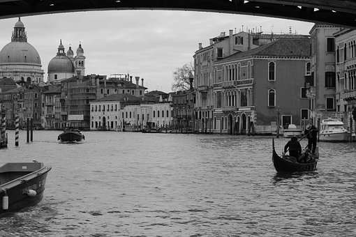 Venice, Canal, Italy, Landmark, City, Building, Water