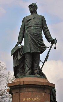 Bismarck, Statue, Historically, Sculpture, Monument