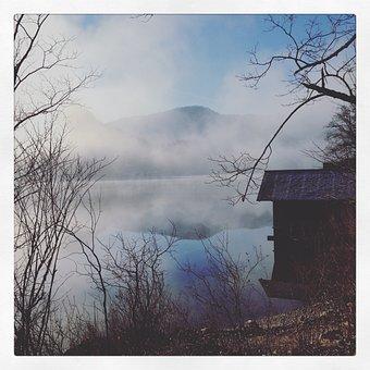 Lake, Fog, Water, Nature, Landscape, Mood