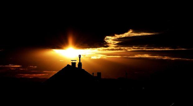 Sunset, Dark, Sky, Nature, Light, Evening, Sun
