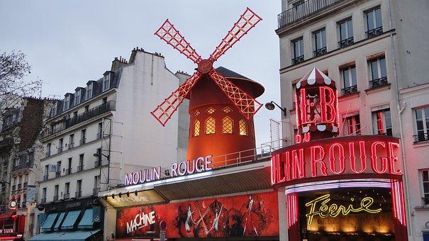 Moulin Rouge, Paris, Architecture, Travel, Building