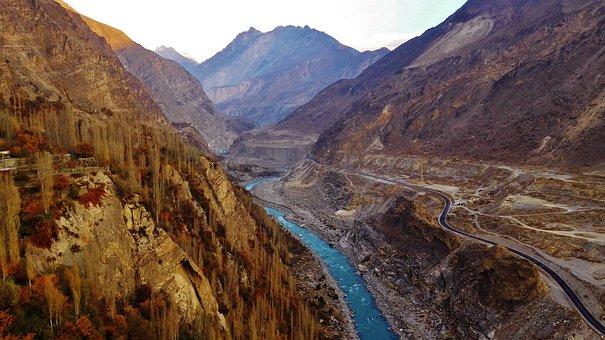 River, Mountain, Pakistan, Water, Nature, Travel