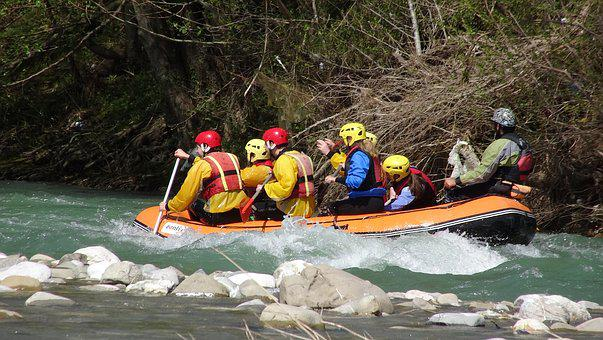 Rafting, Whitewater, River, Rapids, Rubber Boat