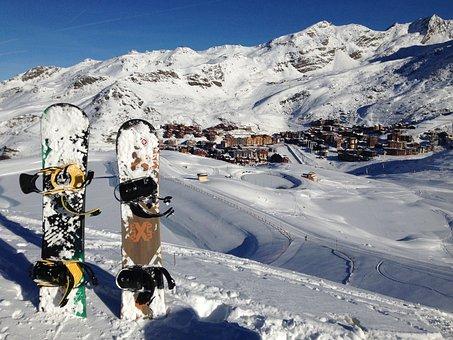 Snow, Mountain, Snow Board, Winter, Nature, Sky