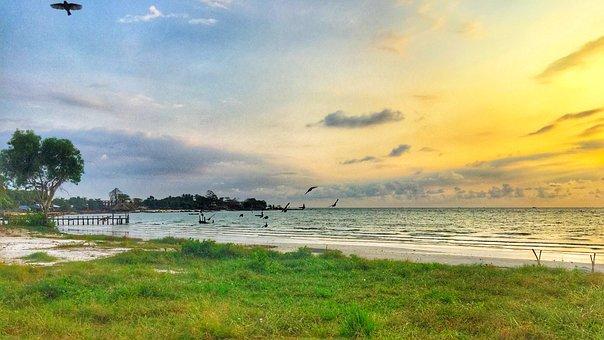 Sunset, Beach, Holiday, Beach Sunset, Ocean, Sea, Sky