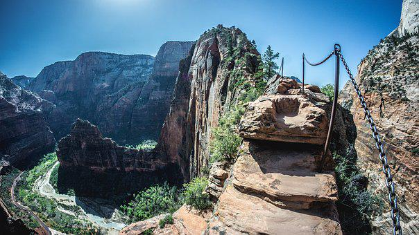 Angels Landing, Zion, Zion National Park, Nature, Utah