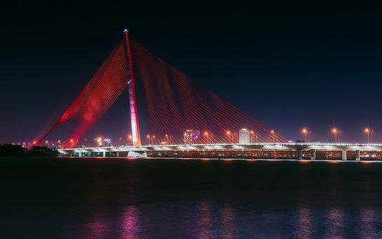 Da Nang, Vietnam, City, Urban, Bridge, Landmark