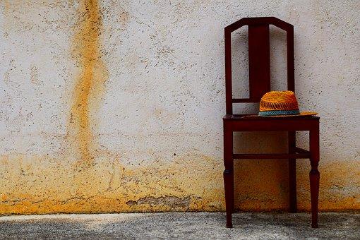 Chair, Hat, Summer, South, Mediterranean, Simply, Arm