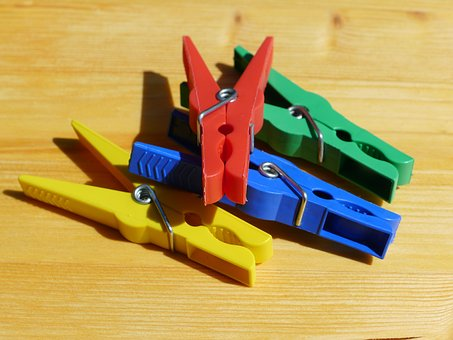 Pegs, Washing, Laundry, Hang, Plastic, Red, Clothes-peg