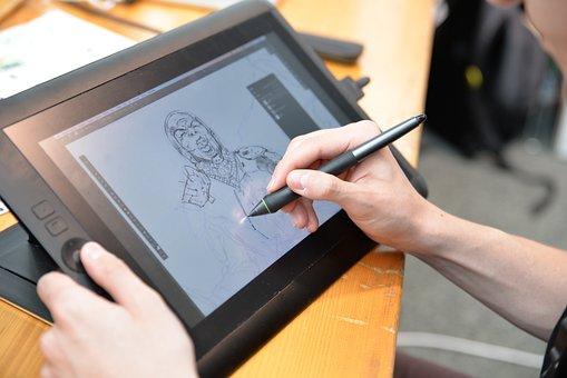 Drawing, Comic, Artist, Digital, Scetch, Board