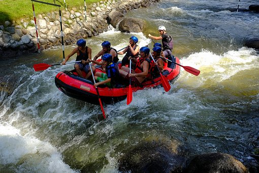 Rafting, Dinghy, Whitewater, Sports, Outdoor
