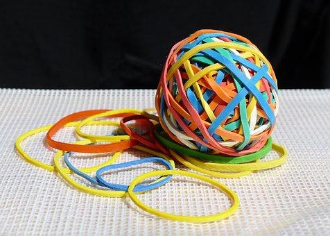 Elastic Bands, Colour, Ball, Elastic, Rubber, Color