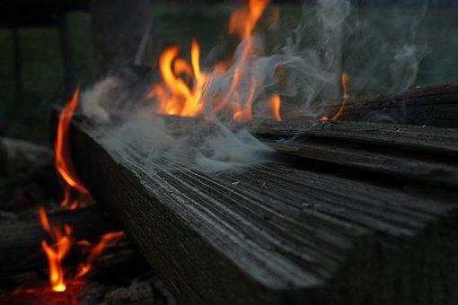 Fire, Wood, Smoke, Flame, Embers, Burn, Campfire