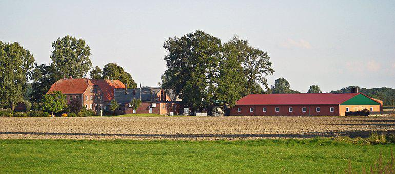 Farm, Large-bauer, Stables, Mast System, Manor House