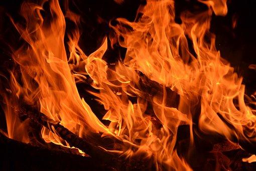 Flame, Fire, Flame Log Fire, Burn, Campfire, Hot, Wood
