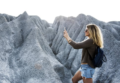 Phone, Technology, Mountain, Freedom, Rock, Travel