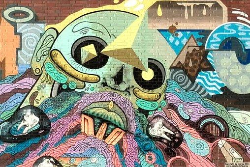 Graffiti, Comic, Abstract, Wall, Modern Art, Artwork