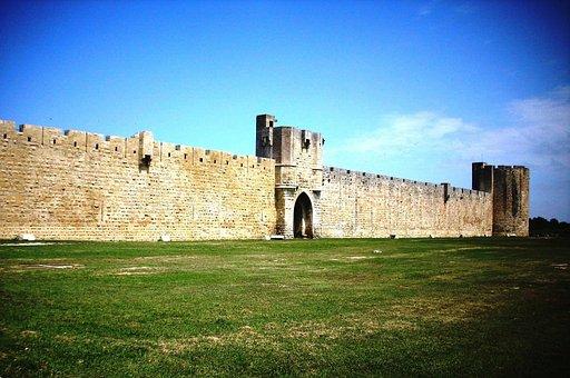 Aigues Mortes, Wall, City Wall, Historically