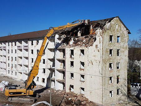 Crash, Demolition, House Demolition, Construction Work