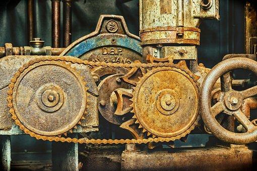 Chain, Mechanics, Chain Link, Metal, Gears, Iron Chain