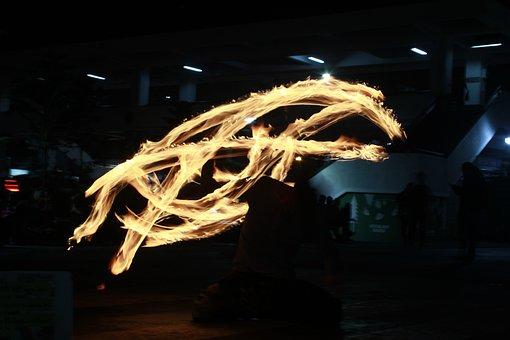 Fire Dancing, Light Painting, Light, Performance, Fire
