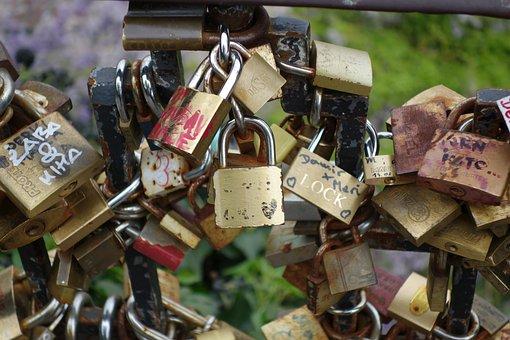 Locked, Love, Padlock, Heart, Romance, Romantic
