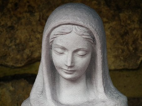 Statue, Madonna, White, Christian, Sculpture, Mary
