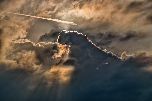 Sky, Clouds, Sun, Rays, Dark, Clouds Form, Mood
