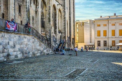 Avignon, Popes Palace, Palace, France, French, Castle