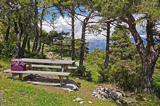 Resting Place, Picnic, Hiking, High Mountains, Altitude
