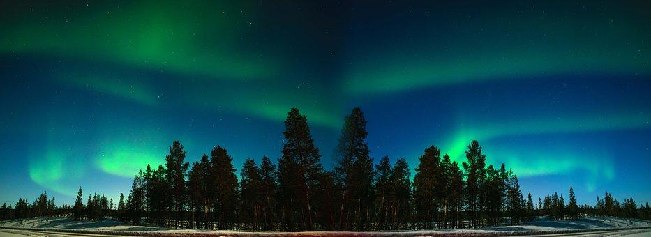 Aurora, Finland, Finnish Lapland, Inari, Suomi