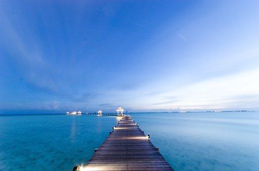 The Sea, Maldives, Views, Trestle