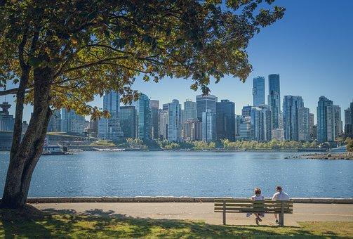 Vancouver, Canada, Stanley Park, Skyline, Skyscrapers